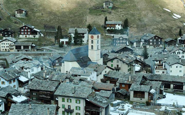 Горная деревня Вальс, Швейцария